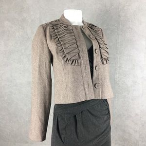 Tabitha Antro short pleated jacket sz 4 S NWOT